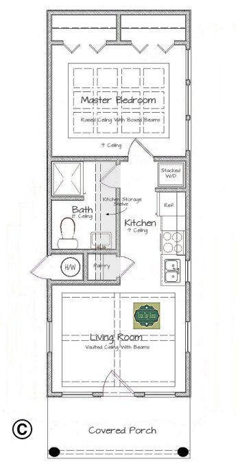 Plan 408 tiny house plans design ideas pinterest for Minimalistisches haus grundriss