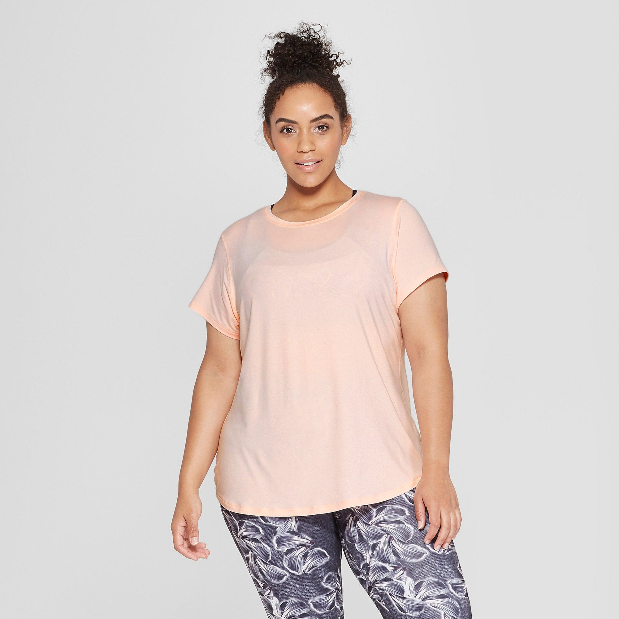 ee7b4df6f3a Women s Plus Size Semi-Fitted Soft T-Shirt - C9 Champion Pale Blush Pink 1X