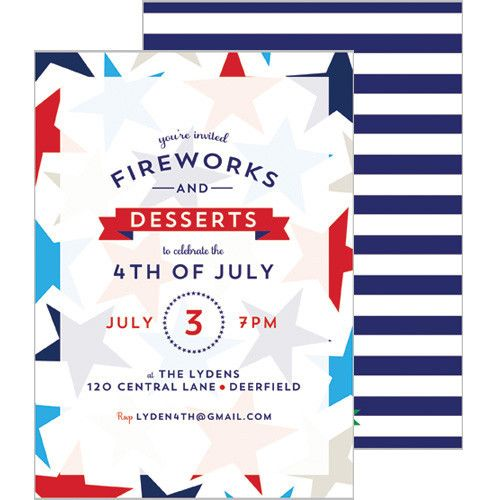 4th of July Patriotic Stars Party Invitation
