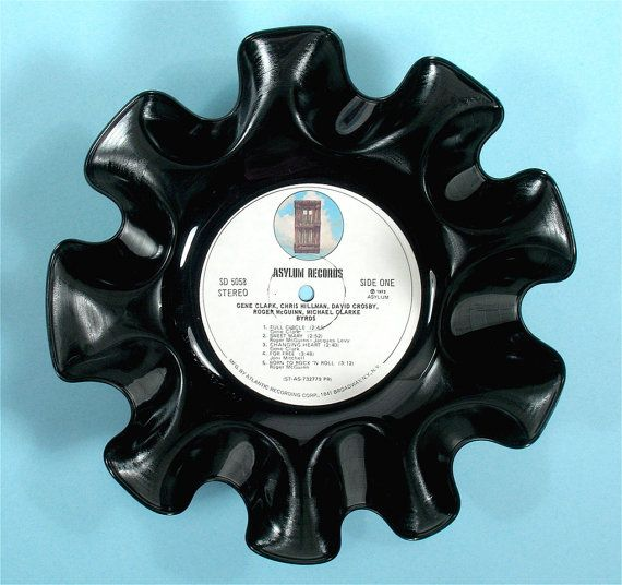 Byrds Vinyl Record Bowl Vintage LP Album by colerainecreations, $14.95