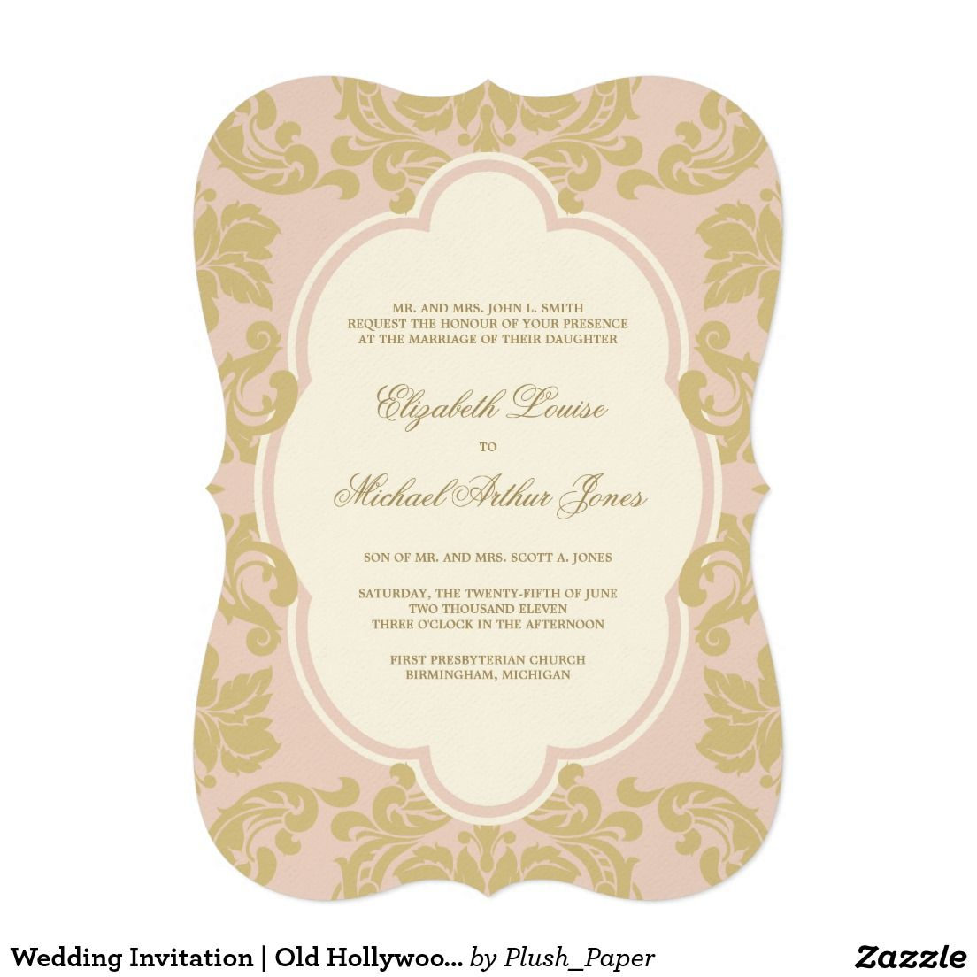d4a58a690d79 Wedding invitation old hollywood glamour the elegant wedding jpg 1104x1104  Old hollywood wedding shower invitations
