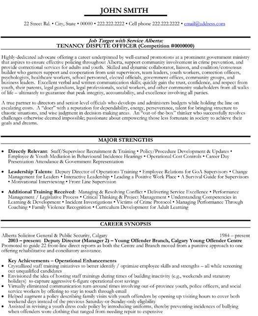Click Here to Download this Dispute Officer Resume Template! http - government resume