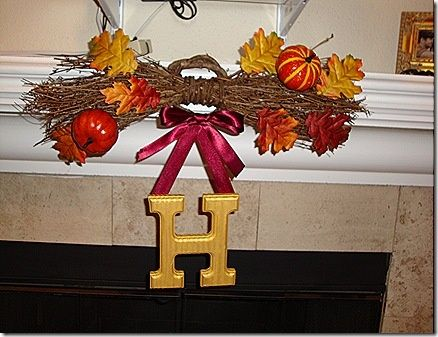 diy fall wreath for mantle or front door christmas thanksgiving holiday quote