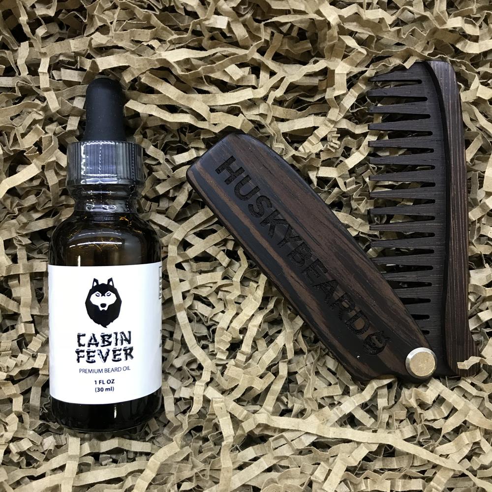 Basic Beard Care Kit Comb And Oil