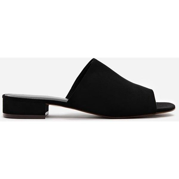 Charles Keith Low Heel Mules 1 566 300 Vnd Liked On Polyvore Featuring Shoes Open Toe Mules Mule Shoe Heeled Mules Black Heels Low Heeled Mules Sandals