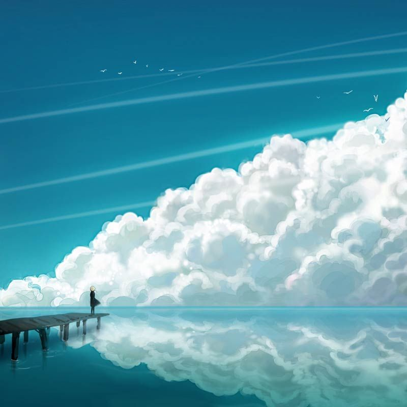 40 Delightful Wallpapers For Ipad Mini With Retina Display Ipadminiretinadisplay Wallpapers Ipadmini2 Apple Ipad Re Clouds Anime Scenery Sky And Clouds Anime wallpaper to ipad
