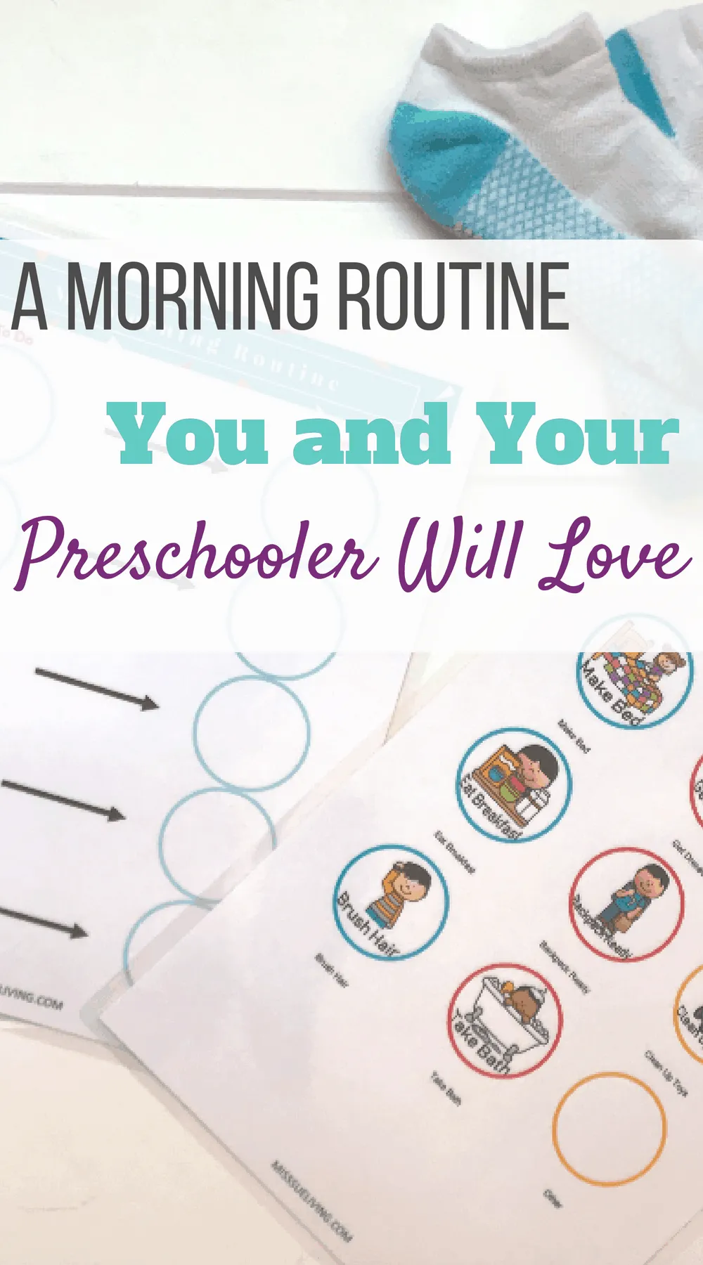 A Morning Routine You and Your Preschooler Can Love #morningroutine