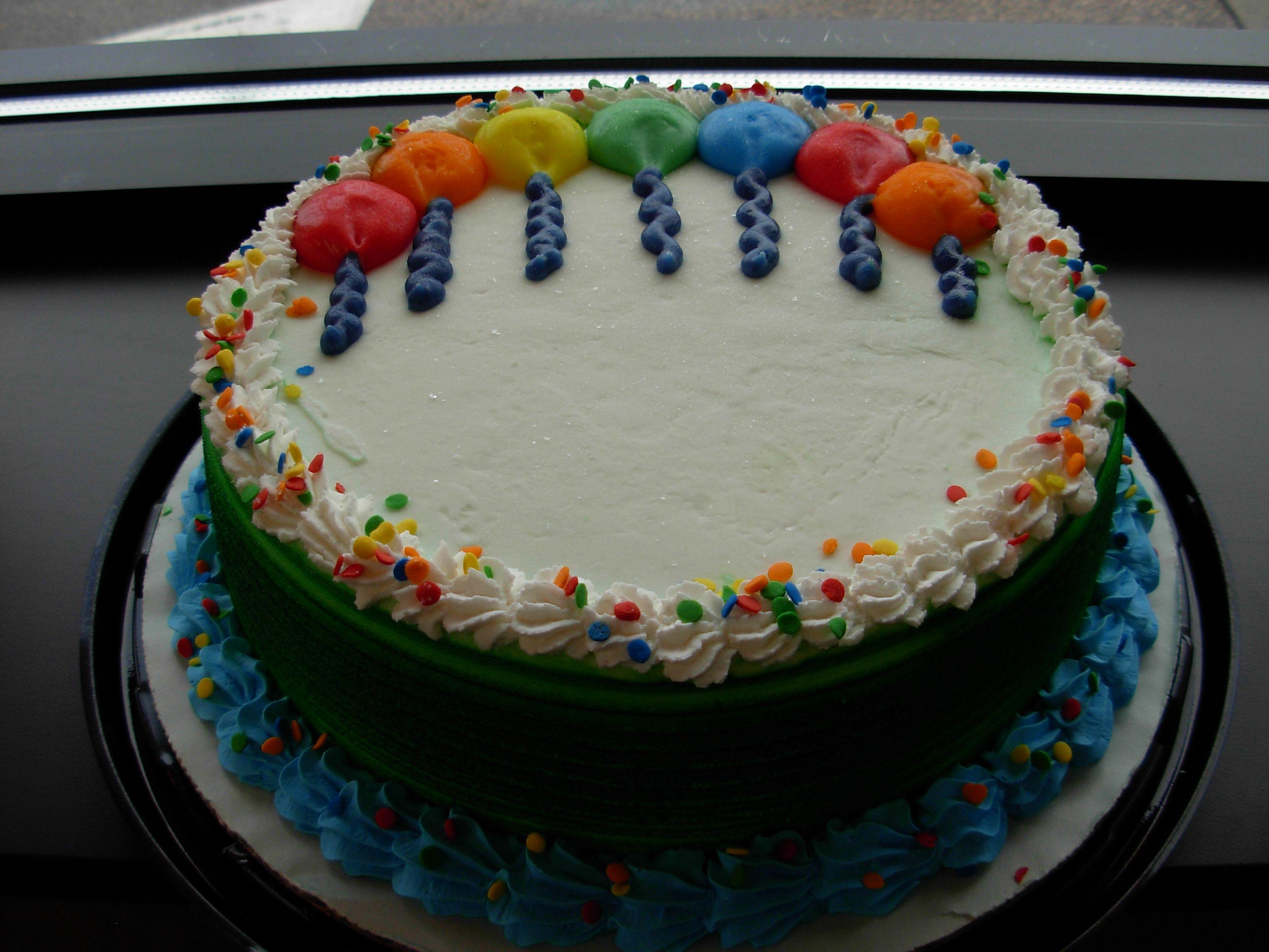 Birthday Balloon DQ Dairy Queen Ice Cream Cake
