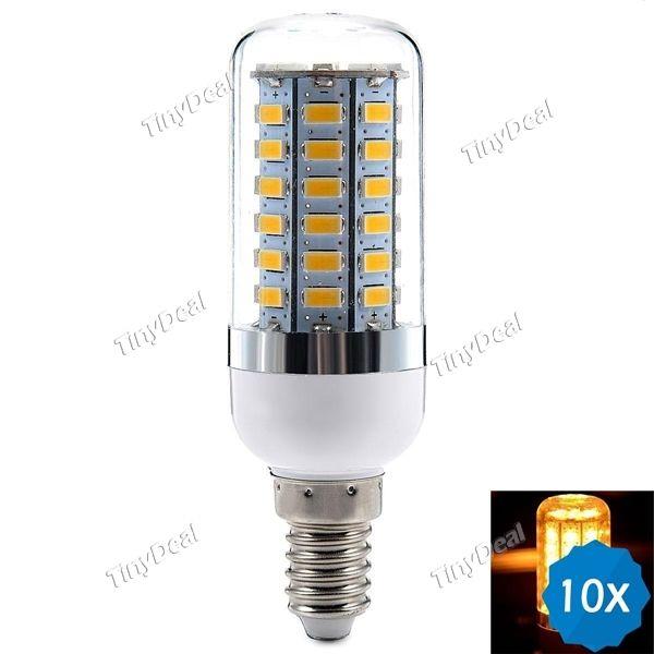 10pcs E14 220-240V 18W 1650LM SMD 5630 LED Warm White LED Corn Bulb KB-515947