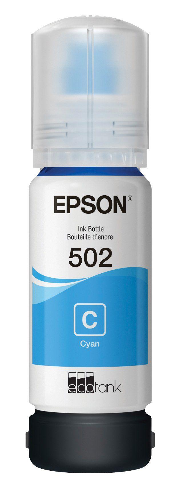 Epson T502 EcoTank Cyan Auto-Stop Ink Bottle (ET-2700, ET