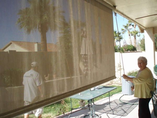 Roll Down Sun Shades Install A Shade Out On Your Patio