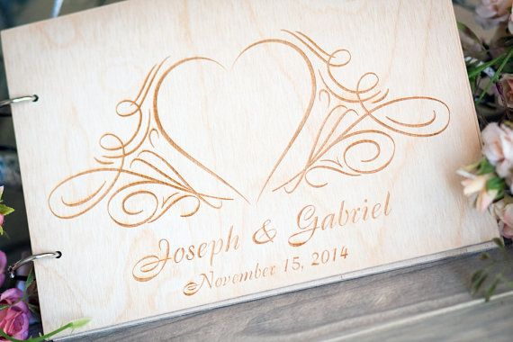 Wood Wedding Guestbook Rustic Wedding Guestbook Guest by woodlack, $35.00