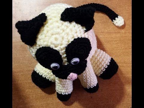 Amigurumi Gato Paso A Paso : Gatto fermaporta all'uncinetto tutorial amigurumi crochet cat