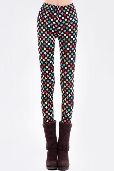 d1b719963a4 Multicolor Polka Dot Leggings. Multicolor Polka Dot Leggings OASAP.com Polka  Dot Leggings