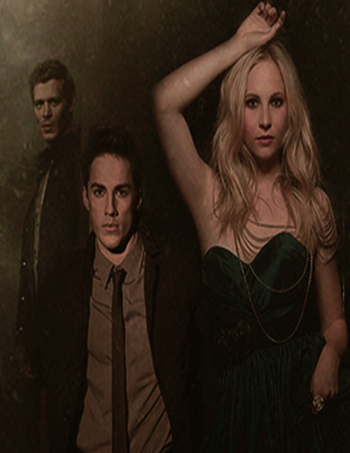 Caroline and Klaus and Tyler