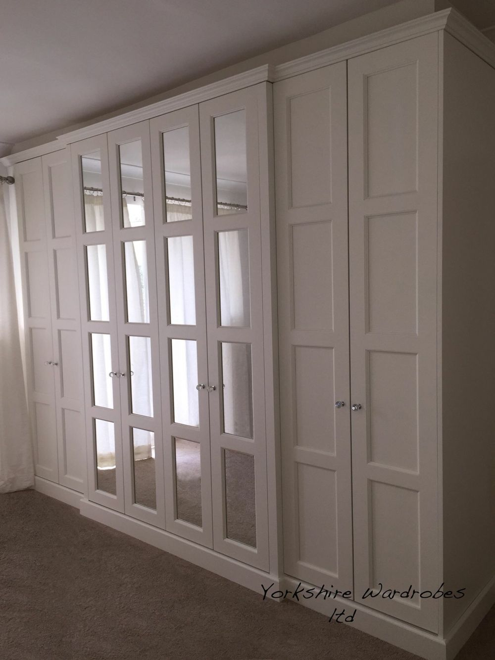 Bedrooms With Closets Ideas Painting our edwardian hand painted fitted wardrobe | wardrobes  mirrored
