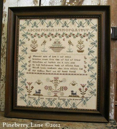 Paid Pattern 18 On Pine Berry Lane This Is A Reproduction Of A