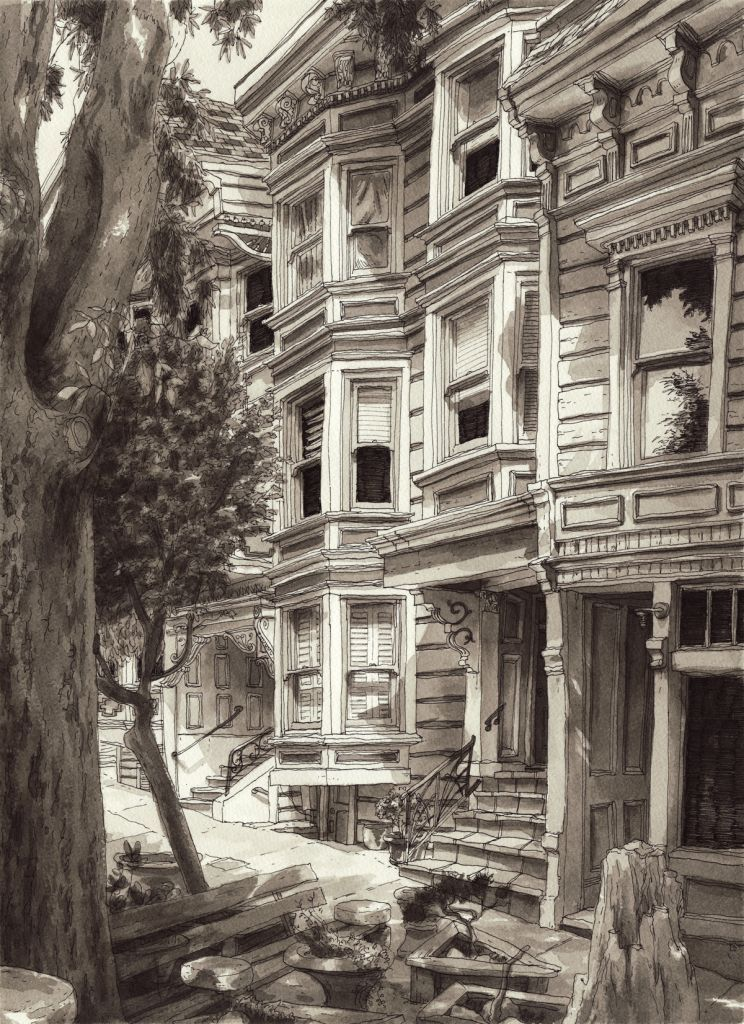 May 3, 2015. Drawn From Duboce Triangle, San Francisco. E