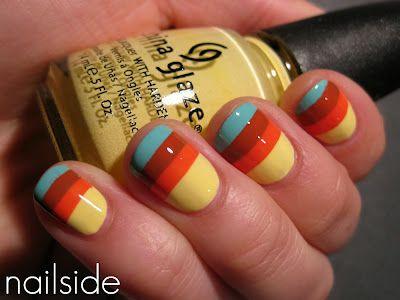 Color overlay to make cool stripes with sheer polish!