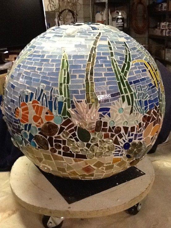 Mosaic Ball Underwater Theme Mosaic Spheres Bowling