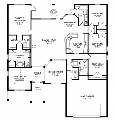 Floor Plans Aflfpw76457 1 Story Ranch Home With 4 Bedrooms 3 Bathrooms And 2 508 Total Square Feet House Plans Craftsman Style House Plans How To Plan