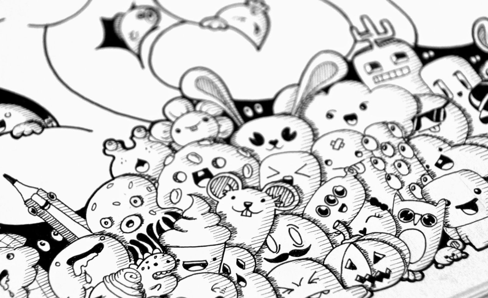 Thumbs up cartoons animals art characters cloud for Doodle characters