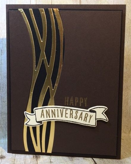 "Check out this ""golden"" anniversary card. Instructions on my blog."