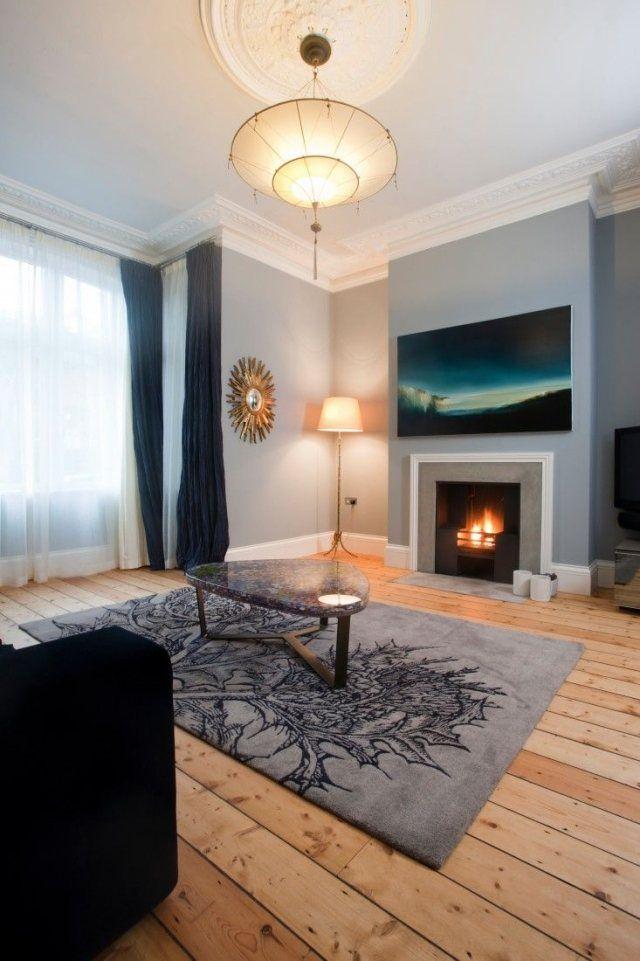 Wand grau streichen: 25 Ideen für Wohnzimmer Wände ...