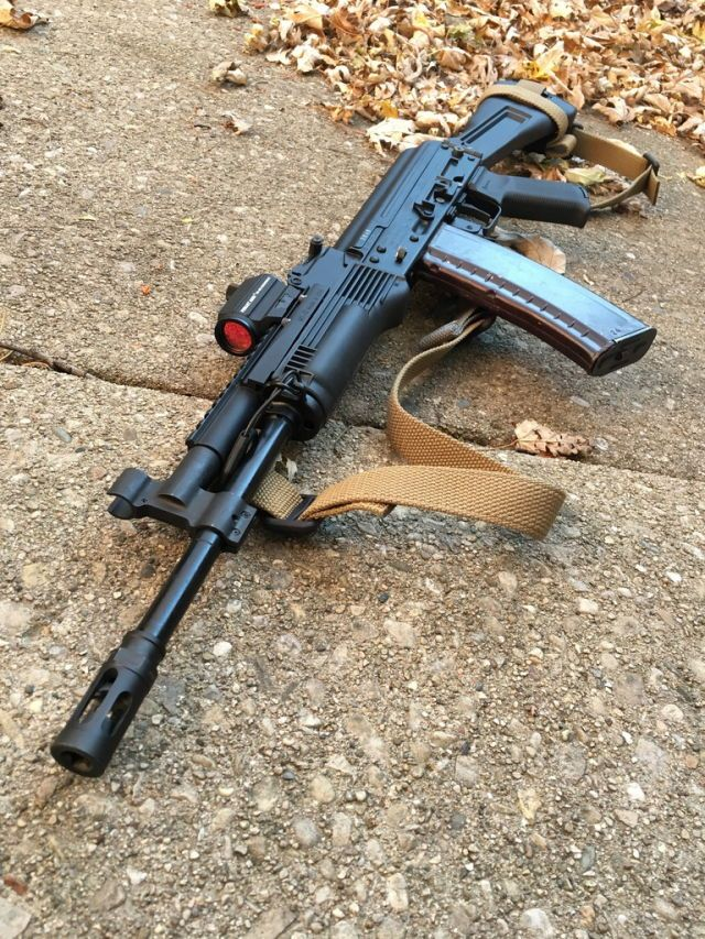SLR-104 Bulgarian AK-74 variant that has been modified by the owner