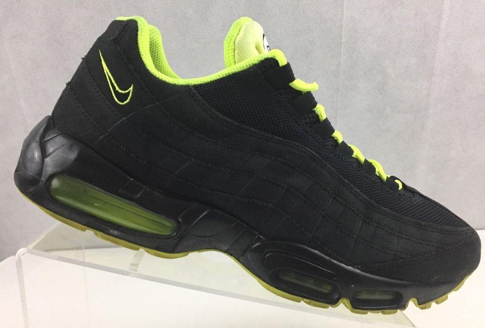 Nike Air Max 95 Black Volt Neon 609048-090 Mens US 11 UK 10 EU 45  Nike   RunningCrossTraining a3c934f37c83