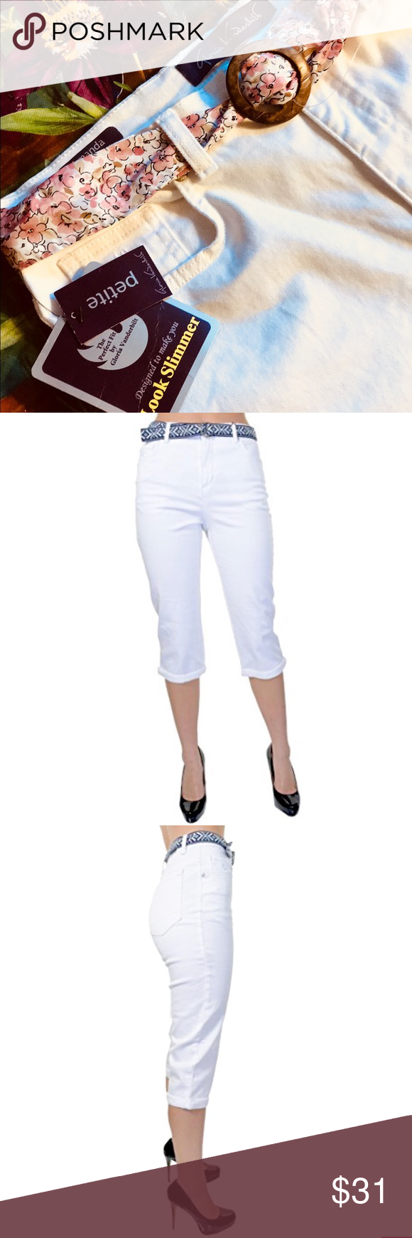 GLORIA VANDERBILT Fuchsia Pink Amanda Classic Fit Tapered Leg Jeans Size 14P NWT