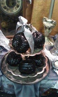 Black sparkly pumpkins