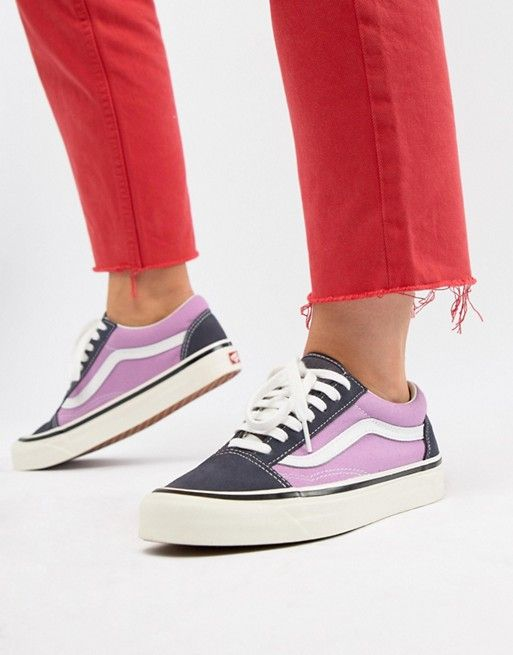 Vans Anaheim Old Skool Sneakers In Og Navy And Lilac  b153e4888