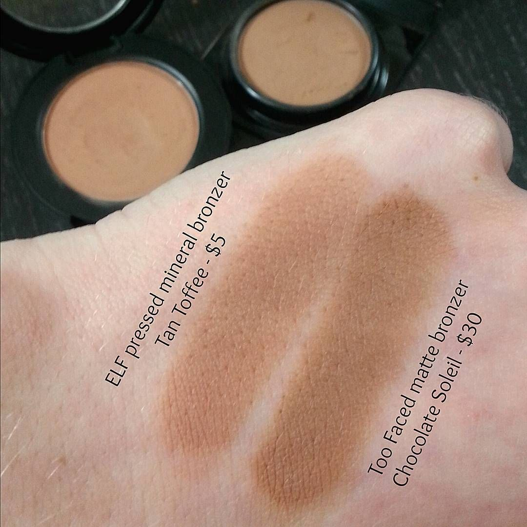 ELF cosmetics mineral bronzer in Tan Toffee - dupe for Too Faced ...