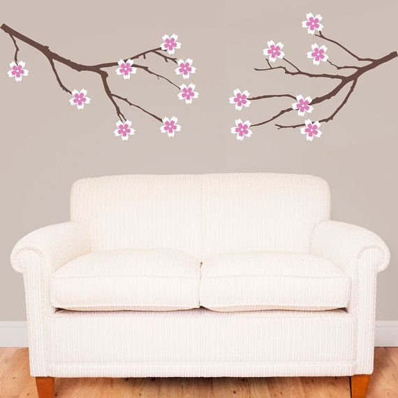 Amber Tree Branches With Sets Of Flowers Vinyl Wall Decal - Portal 2 wall decalsbest wall decals images on pinterest