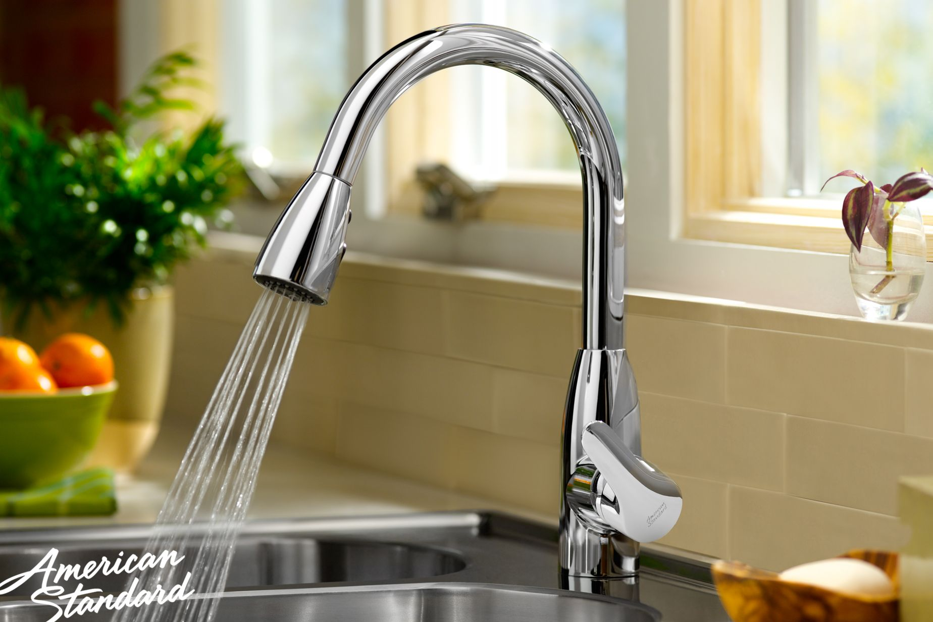 American Standard Colony Soft High Arc Pull Down Kitchen Faucet