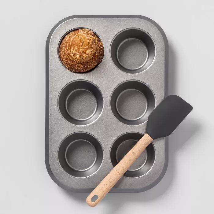 non stick jumbo muffin tin aluminized steel made by design in 2020 jumbo muffins silicone mini muffin pan muffin tins pinterest