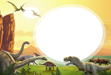Dinossauros Cumpleaños De Dinosaurio Invitaciones De