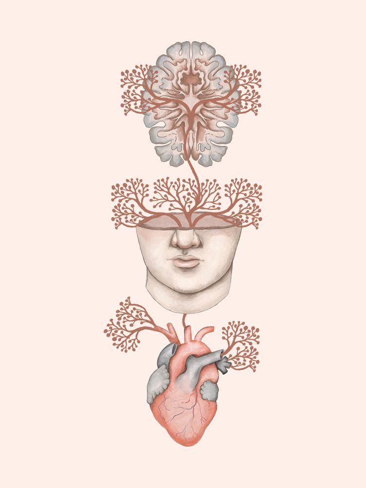 Body Mind Soul Art Print By Thiago Corraaa X Small In 2020 Anatomy Art Medical Art Art