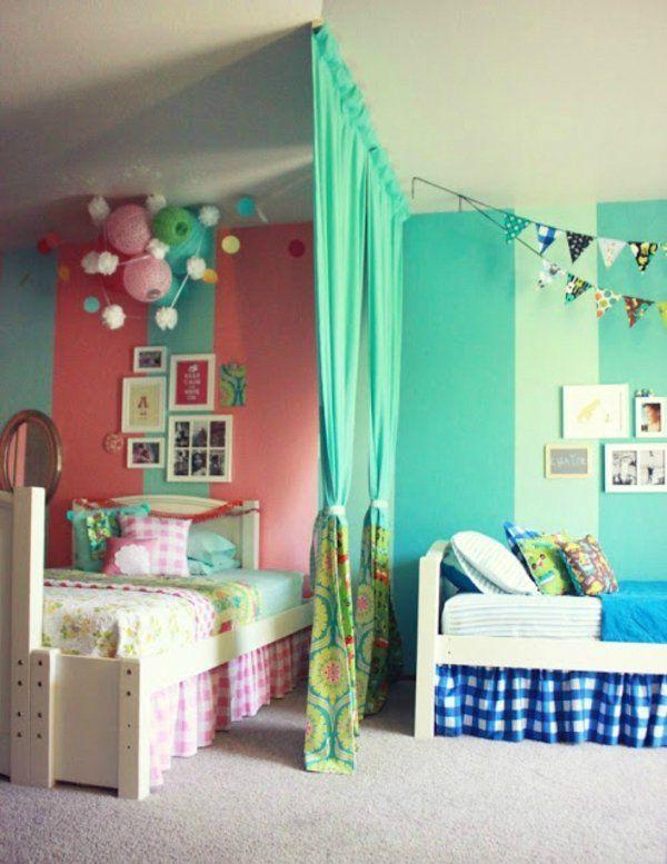 kinderzimmer komplett gestalten junge und m dchen teilen ein zimmer kids pinterest. Black Bedroom Furniture Sets. Home Design Ideas