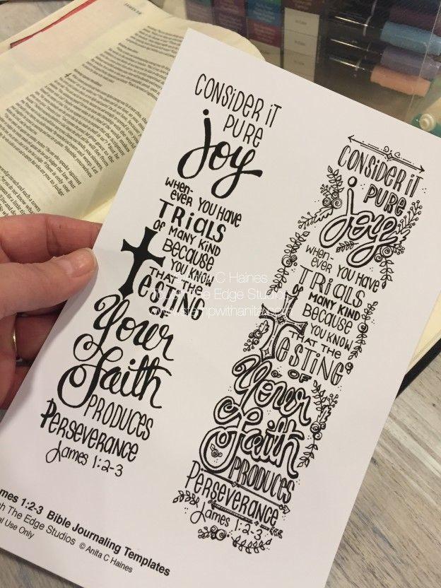 Bible Journal Template.www.stampwithanita.com