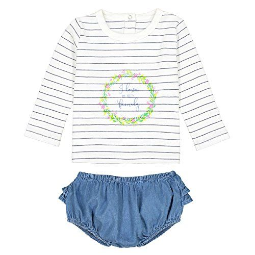 9f06d0ab6 La Redoute Collections Big Girls Denim T-Shirt and Bloomers Set, Birth-3  Years