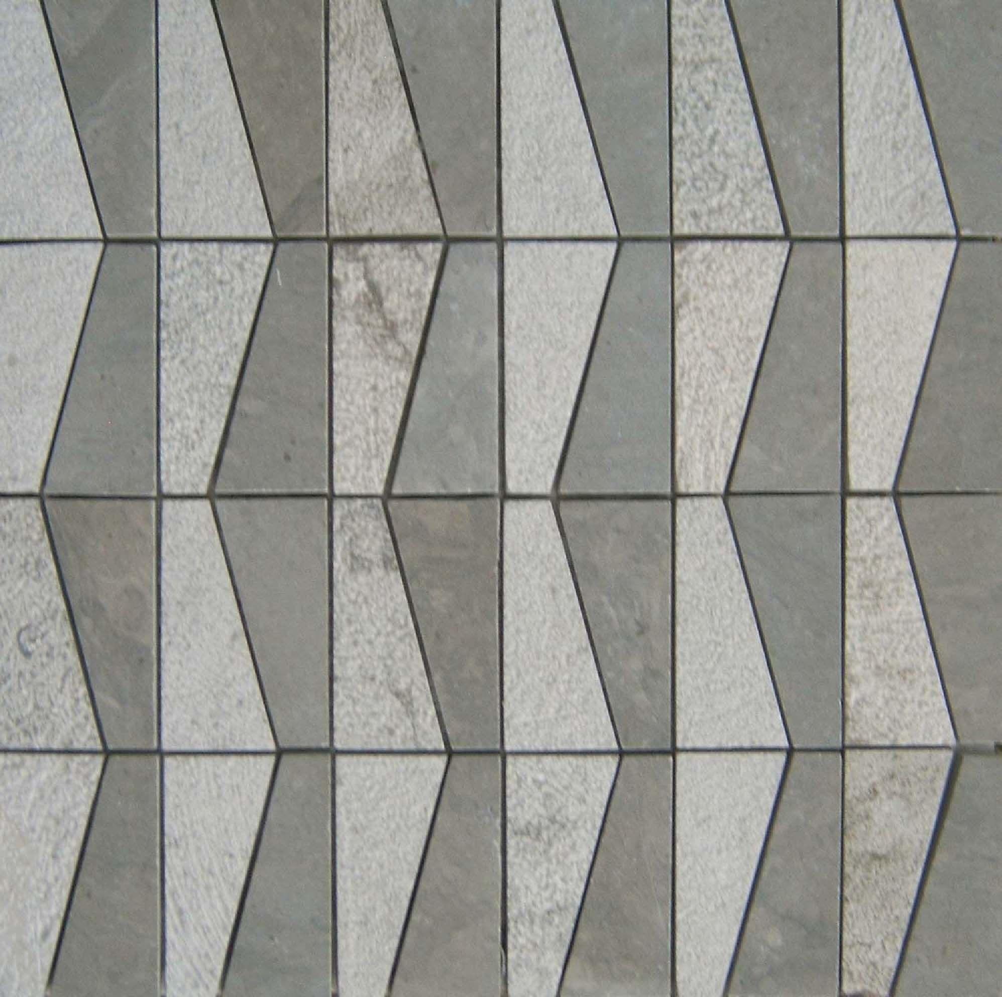 Sidi Pyramid Gris Clair Stone Mosaic Tile Stone Mosaic Stone Tiles
