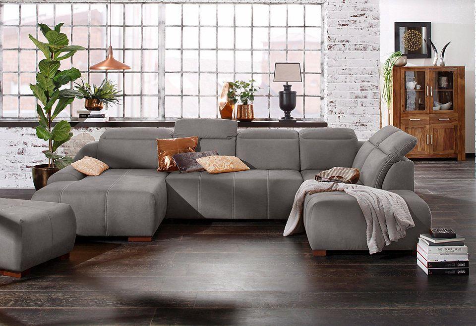 Premium collection by Home affaire Wohnlandschaft »Spirit - wohnzimmer braun rot