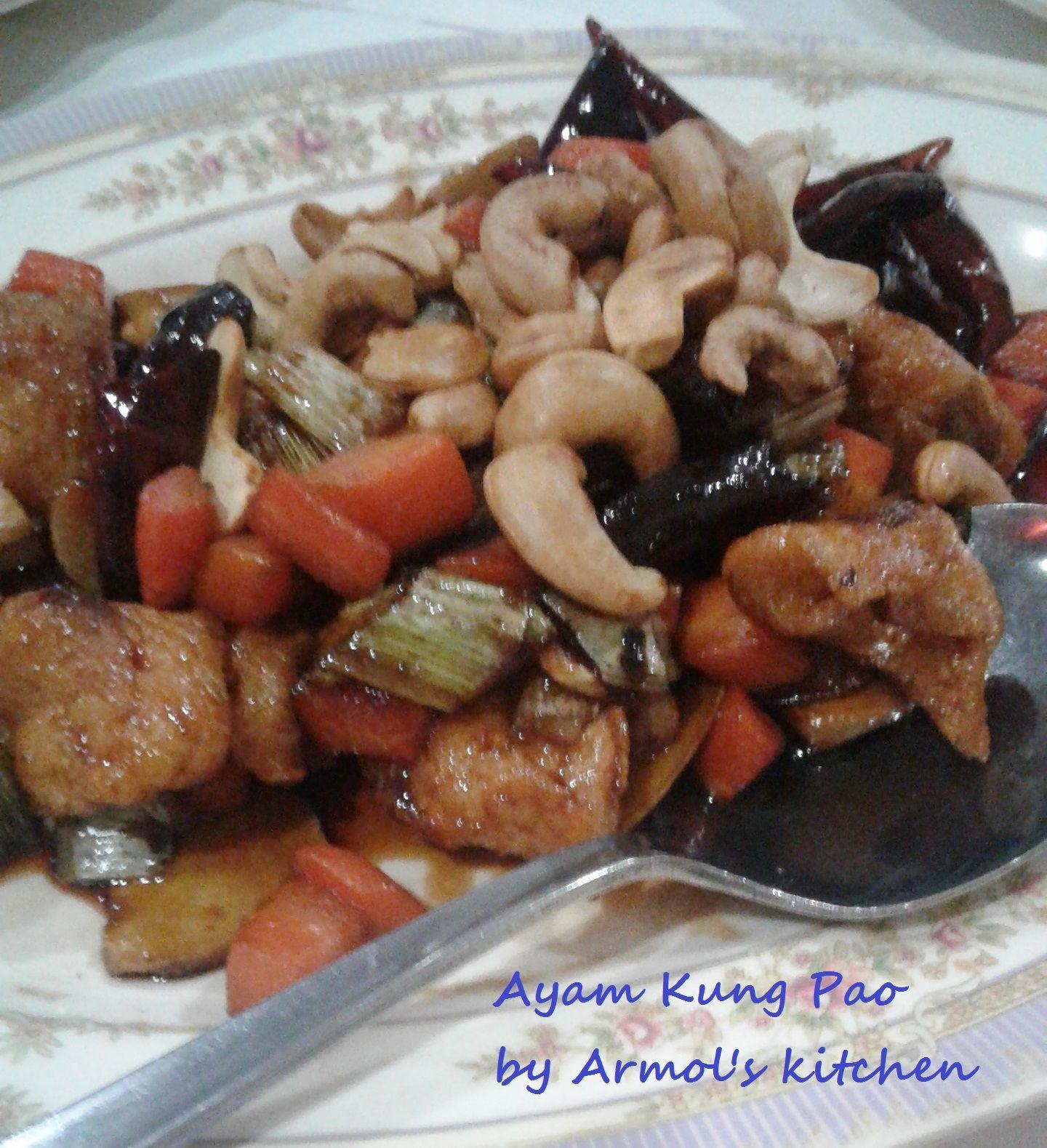 Ayam Kung Pao    Ayam dimasak dengan bumbu cina dan cabe kering    Yuk simak resepnya http://aneka-resep-masakan-online.blogspot.co.id/2016/07/resep-ayam-kung-pao.html