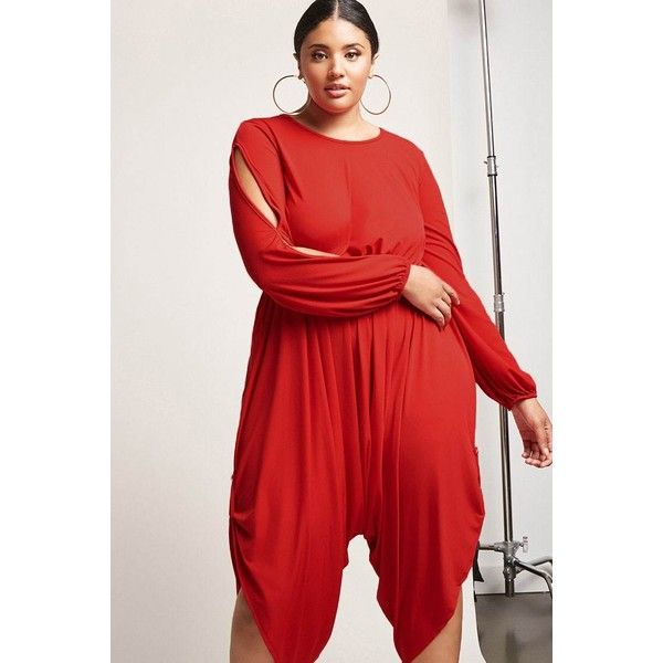 6c9d46dc5497 Forever21 Plus Size Soieblu Harem Jumpsuit ( 48) ❤ liked on Polyvore  featuring plus size women s fashion