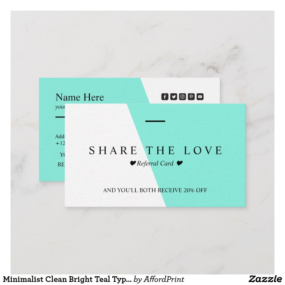 Referral Business Card Google Search Google Business Card Referrals Real Estate Business Cards