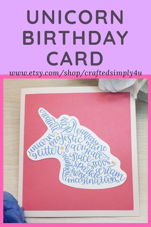 Unicorn Birthday Card in 2020 Unicorn birthday cards