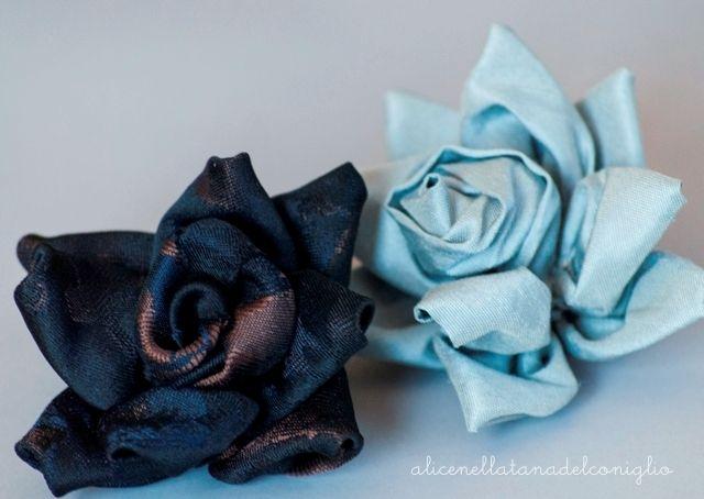 la Tana del Coniglio: tutorial fiori di stoffa / fabric flower tutorial