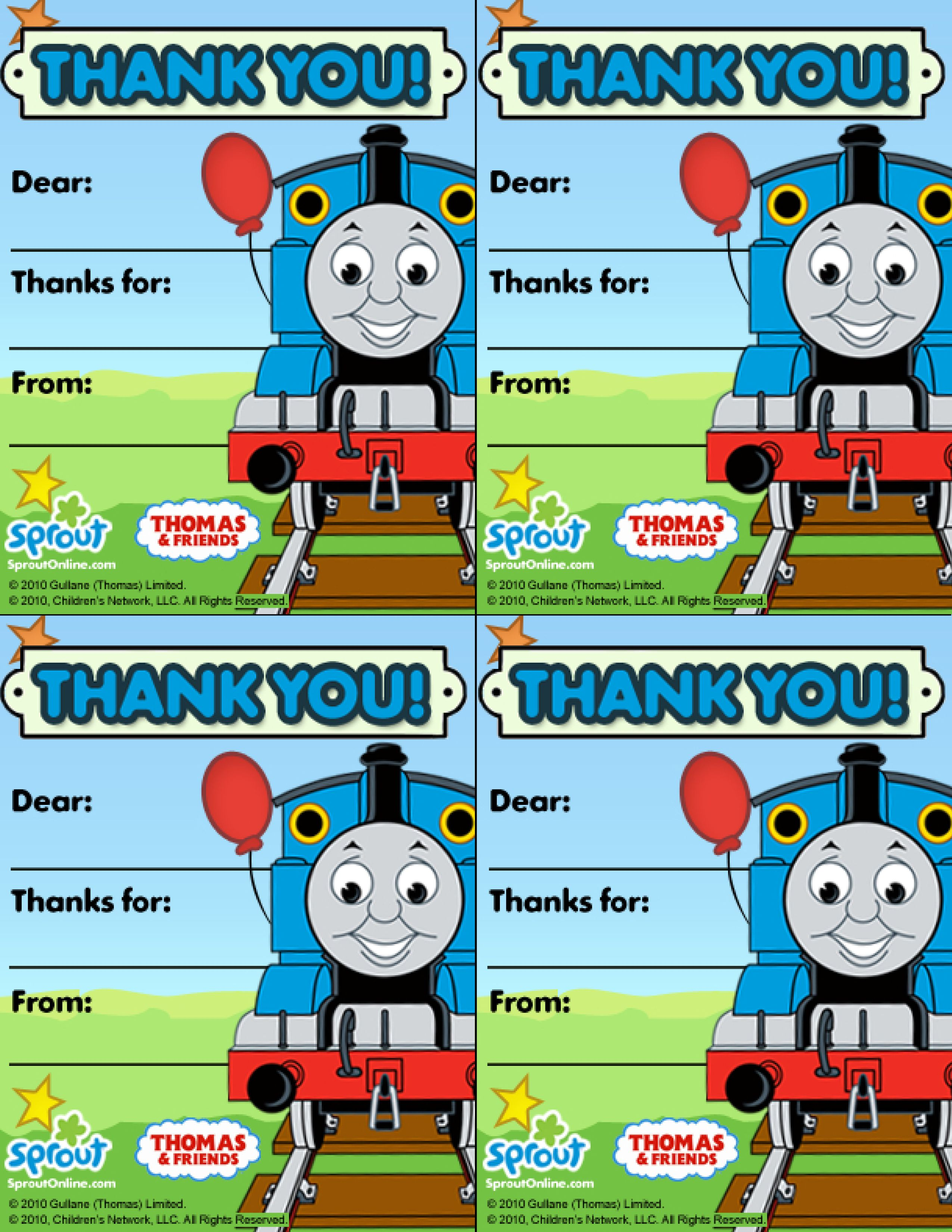 Thomas & Friends Thank You Note – Thomas & Friends Coloring Pages ...